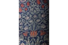 A pair of early 20th Century William Morris Violet and Columbine lined woven woollen curtains; De