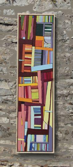 structure 3, mosaique de bois peint
