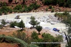 Rafting on the Ahansel river in Morocco