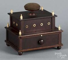 Lot 220: Mahogany sewing box