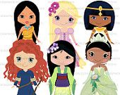 Disney princess 2 clip art special order 6png300dpi for commercial and personal use.