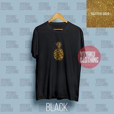 Jual Kaos Nanas Glitter - Kota Medan - Yoyaku Shop | Tokopedia Tumblr Tee, Medan, Gold Glitter, Tees, Clothes, Shopping, Outfits, T Shirts, Clothing
