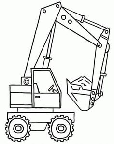Free A backhoe with the shovel full of material coloring and printable page. Boy Coloring, Coloring Pages For Kids, Coloring Sheets, Truck Coloring Pages, Coloring Book Pages, Embroidery On Clothes, Construction Birthday, Embroidery Techniques, Baby Quilts