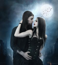 Explore the Dark - Horror collection - the favourite images chosen by AngelesRR on DeviantArt. Vampire Pictures, Gothic Pictures, Vampire Love, Vampire Art, Gothic Fantasy Art, Gothic Fairy, Goth Beauty, Dark Beauty, Victorian Vampire