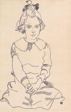 Egon Schiele (1890 – 1918) - Portrait of Maria Steiner, 1918