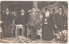 King Farouk of Egypt with Coptic Pope and Patriarch of St Mark, Yousab in Alexandria, Egypt Anthony The Great, Old Egypt, Church History, Modern History, Ancient Jewelry, Vintage Pictures, Old Photos, Saints, The Past