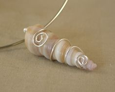 Wire Wrapped Sea Shell Pendant by ShoreDebris