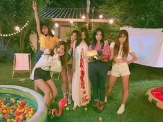 "Apink. Even the group name seems to fit their ""on camera"" persona's. Wouldn't wish to place them too high on a pedestal myself, after all, they are only human."