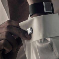 """""""JV Man"""" Square Sterling Silver Cufflinks - Plukka - Shop Fine Jewelry Online"""
