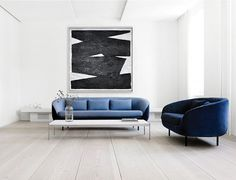 Original Artwork Extra Large Abstract Painting, Acrylic Painting Canvas Art Hand Painted Black And White Minimalst Oil Painting. Black And White Wall Art, Black And White Painting, Black And White Abstract, Black White, Oil Painting Abstract, Acrylic Painting Canvas, Canvas Art, Decoration, Art Decor