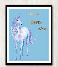 Lámina  Unicorn. I believe in love always. D7