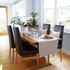 Blue dining room | Decorating