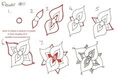 How to draw Paisley Flower 11 by Quaddles-Roost on deviantART