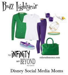 Disney Fashion  Buzz Lightyear. Would have to do a little work on it but cute idea