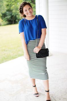 Royal Blue and Stripes | Courtney Toliver