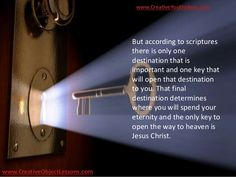 Image result for JESUS THE KEY TO YOUR DOOR