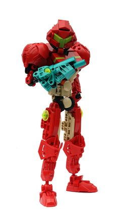 LEGO Samus. Since LEGO already has its own videogames, an official crosover is unlikely.