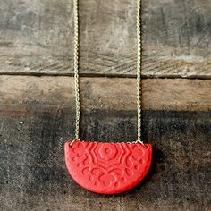 Learn how to make a necklace with a pretty pendant, like this Creative Coral Pendant. This DIY jewelry project is fun, easy, and quick to make. Polymer clay projects are a great way to add creative and delicate designs to your handmade jewelry ideas because they allow you to imprint, emboss, cut, or mold your own ideas into them.