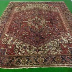 Catawiki Online-Auktionshaus: Heriz, Iran, 390 x 310 cm Iran, Bohemian Rug, Rugs, Decor, Persian Carpet, Classic, Farmhouse Rugs, Decoration, Decorating