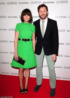 Dawn O'Porter and Chris O'Dowd. These two are just beautiful. And would you look at that dress!!