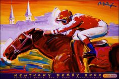 Kentucky Derby 2000 : -  Official Peter Max Site! Gallery Shows, Poster Shop & More!  -
