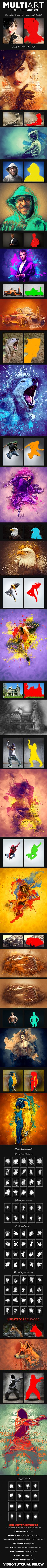 MultiArt Photoshop Action - Photo Effects Actions