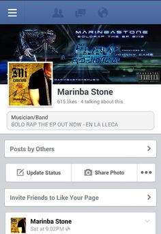 Entra ami pagina musical www.Facebook.com/marinbastonemusic y dale a l y si Le has dado a me gusta compartela | go to my bandpage and press like and if you did just share it