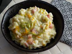 risotto cremoso fiori di zucca e pancetta