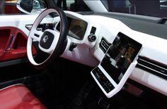 Stunning interior in this volkswagen bulli ipad car