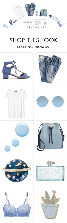 """""""BLUE RAINBOW"""" by ironono ❤ liked on Polyvore featuring Tabitha Simmons, H&M, Sunday Somewhere, Topshop, INC International Concepts, Swarovski, Kate Spade, Elle Macpherson Intimates, Des Petits Hauts and StreetStyle"""