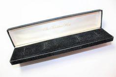 The Franklin Mint Box, Black Plush Velvety Covered Bracelet Box, Black Plush Necklace Box, Black Plush Long Jewellery Box (c1960s) by GillardAndMay on Etsy