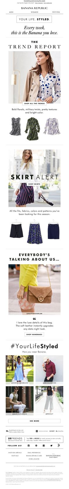 Banana Republic - ☺ Hello! We're introducing these perfect skirts