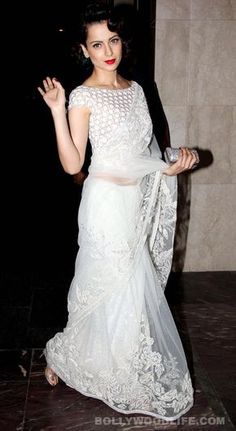 Image result for white lace saree blouse