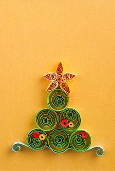 Tarjeta de felicitación de Navidad hecha a mano por vanilllas