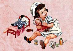 Nurse holding doll (1 available)