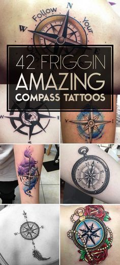 Nautical Compass Tattoo Designs