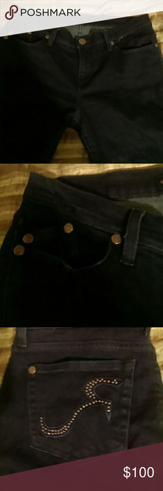 Rock & Republic Jeans Gently used...nice..studded pockets Rock & Republic Jeans Straight Leg