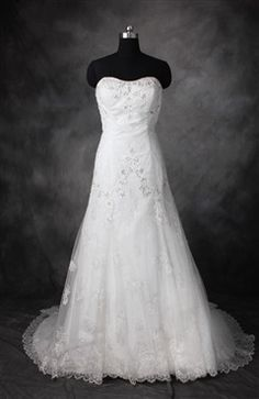 Beading A-Line Sweetheart Court Train Wedding Gowns 291.00
