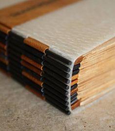 L'atelier de DOM Handmade book by Marie-Dominique Marnay - unique stick binding.  atelierdedom.com