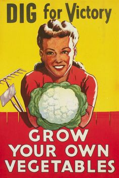 Dig for victory! We're loving these vintage posters that still ring true today. #GROWmethod