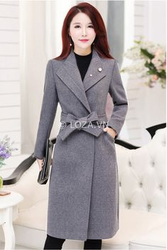 Coats For Women, Jackets For Women, Clothes For Women, Stylish Outfits, Fashion Outfits, Hijab Fashion, Modele Hijab, Cashmere Coat, Belted Coat