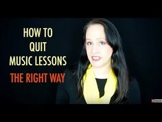 How to Tell Your Music Teacher You Want To Quit Lessons
