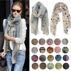 Women Fashion Pretty Long Soft Chiffon Cotton Scarf Wrap Shawl Stole Scarves Hot #Unbranded #Scarf
