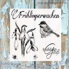 """Stempelsets - Stempelset """" Frühlingserwachen klein"""" - ein Designerstück von Charlie-und-Paulchen bei DaWanda"""