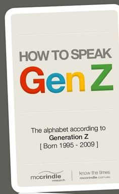generation z infographic #GenerationZ #Infograpics #media
