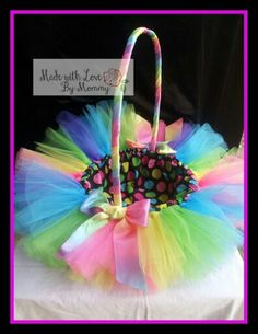 Tutu inspired Easter Basket. https://www.facebook.com/pages/Made-with-love-by-mommy/511050765645408