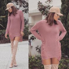 #⬇️        Hat @windsorstore  Sweater @windsorstore  Boots @lolashoetique