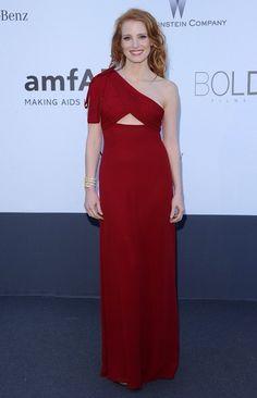 Jessica Chastain One Shoulder Dress