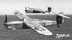 A rather weatherbeaten Fairey Barracuda II MX892/R3M 'Mary' formates with a Mk III coded R5Z, this having a radome beneath the fuselage while MX892 has radar aerials on the wings. Both were from No 1 OTU, Ronaldsway, Isle of Man.