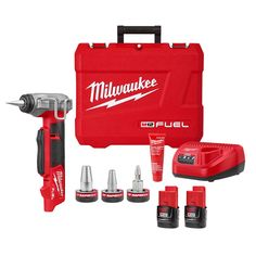 Milwaukee 2532-22 M12 FUEL ProPEX Expander w/ 1/2-1 RAPID SEAL Heads Kit Led Work Light, Work Lights, Cordless Power Tools, Confined Space, Milwaukee Tools, Electronic Recycling, Recycling Programs, Tool Kit
